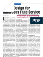 Piping Design Hazardous Fluid Service