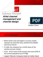 18154087 Airtel Channel Management and Channel Design