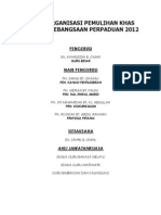 Carta Organisasi Pemulihan Khas 2012