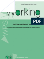 Working Paper 163 - Food Prices and Inflation in Tanzania