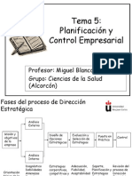 Tema 5 Planificación y Control