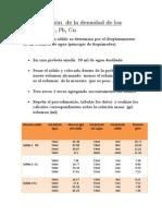 Determinación  de la densidad de los sólidos