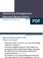 maternal resuscitation drill ppt