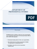 Department of Professional Studies2012