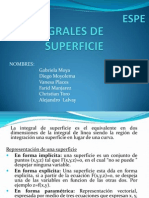 Integrales de Superficie