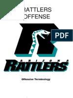 2008 Arizona Rattlers Offensive Playbook