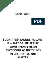 Dean Hood Coaching - Glazier Clinic