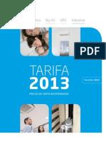 Daikin Tarifa 2013