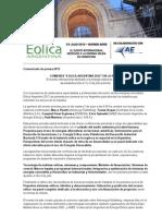 07 Eólica 2012 Comunicación de Prensa Ant