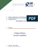 Función Cuadrática + graph