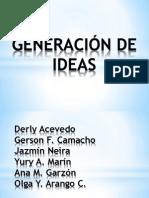 Diapositivas Generacion de Ideas