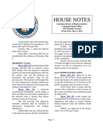 2013 House Notes - Week 4