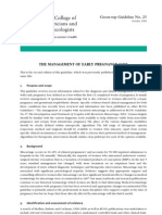 Management of Early Pregnancy Loss 2006
