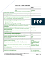 CSRProjectClosureChecklist Sample