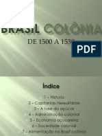 BRASIL COLÔNIA 3°ano B - MECÂNICA