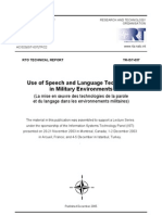 Use of Speech and Language Technology in Military Environments