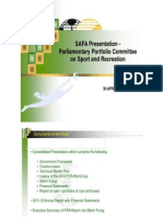 Safa presentation- Parliamentary Portfolio Committee on Sport and Recreation
