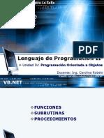 Unidad IV Funciones Sub Procedimientos Formularios