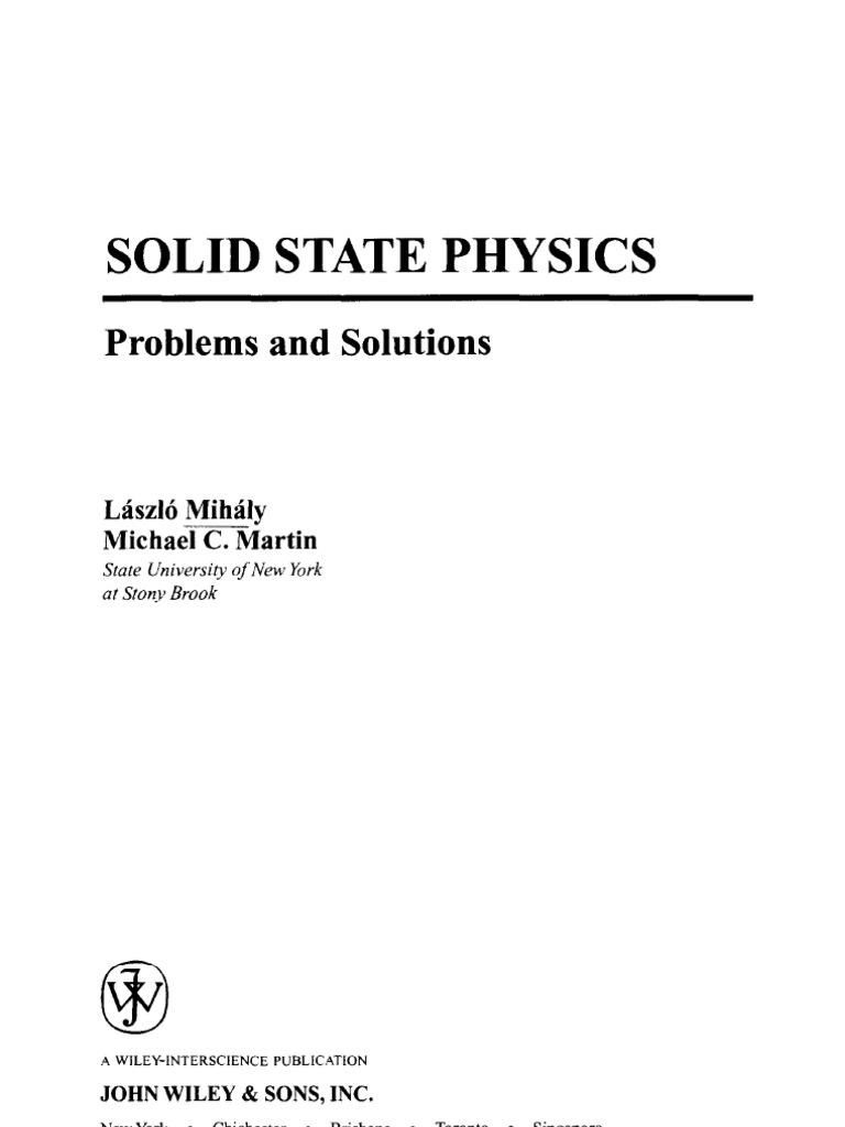solid state physics problems and solutions rh scribd com Physics Symbols Velocity Physics