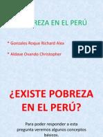 EXISTE POBREZA EN EL PERÚ