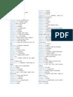 Vocabulario (Sustantivos)