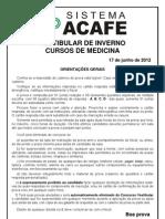 Prova Medicina 2012