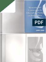 Memorias del Centro para la Libertad de Prensa en Puerto Rico 1999-2000