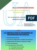 La construcción de programas de intervención psicosocial (rua-tema 3)