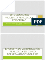 Metodología estudios Victimización