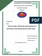 FDI của Úc vào Việt Nam12