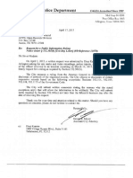 Arlington Texas Police Department FOIA Request Response