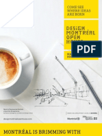 Montreal Design open house program 2013