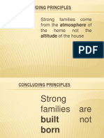 Building Stong Families - Concluding Principles