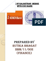 34893286 Bank of Rajasthan to Merge With Icici Bank Ppt