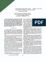Self-Organization of Nanorobots
