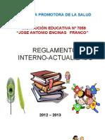 Reglamento Interno 2012 - 2013