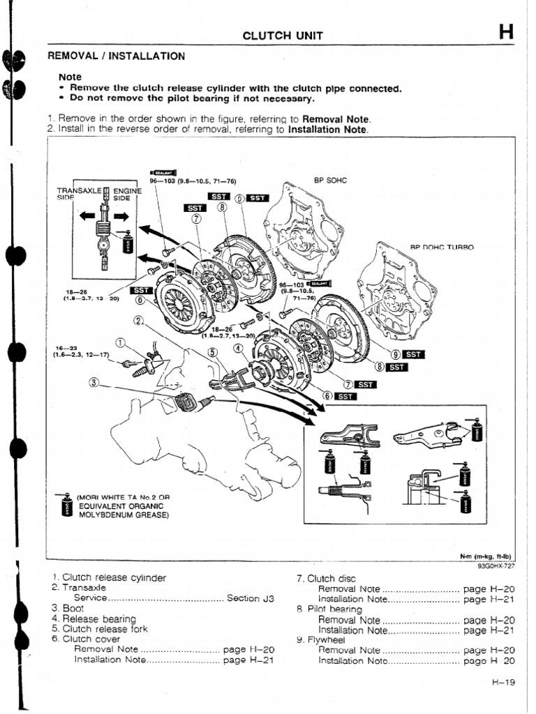 Clutch Adjustment Mazda Bg 323 1990