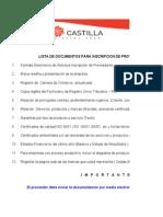 1. Formulario Proveedores de Materiales y Servicios