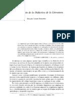 Tejero Robledo_Fundamentación de la Didáctica de la Literatura