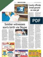 Soldier witnesses son's birth via Skype