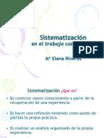 SISTEMATIZACIÓN EN EL TRABAJO COMUNITARIO  5-5-2013