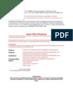 Retrospective Protocol Template