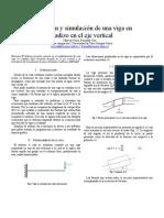 Modelación y simulación de una viga en voladizo en el eje vertical