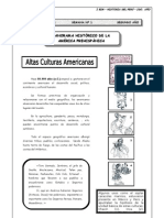 Panorama histórico de la américa prehispánica