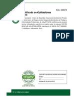 Certificado de Cotizacion de Empresa