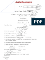 engineering mathematics II Nov Dec 2009 Question Paper Studyhaunters.pdf