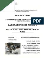 Laboratorio de Fisica II (Velocidad de Sonido)