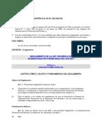 Reglamento Ley AFI
