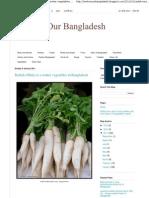 We Love Our Bangladesh_ Radish (Mula) is a Winter Vegetables in Bangladesh