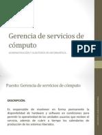 Gerencia de servicios de cómputo